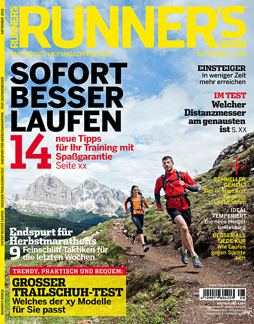 Runner's World Germany trail running cover