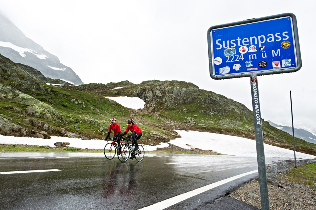 Susten pass road biking