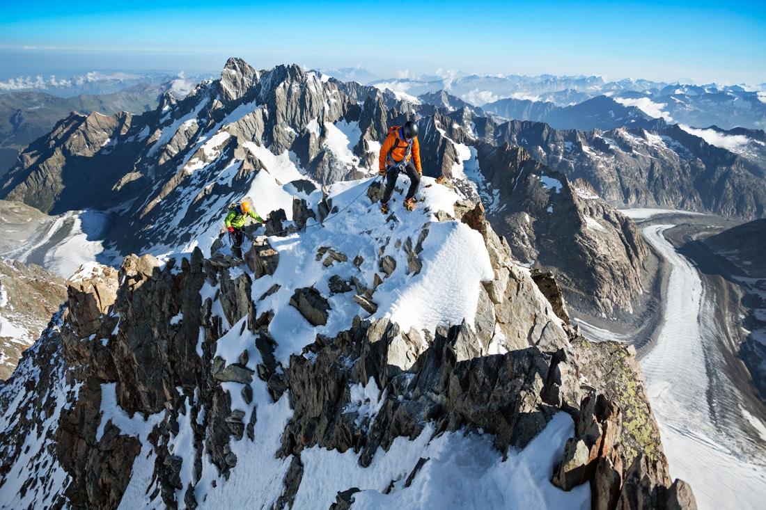 Climbing the Finsteraarhorn