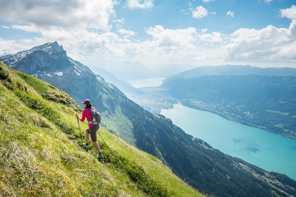 Spring hiking in the Swiss Alps