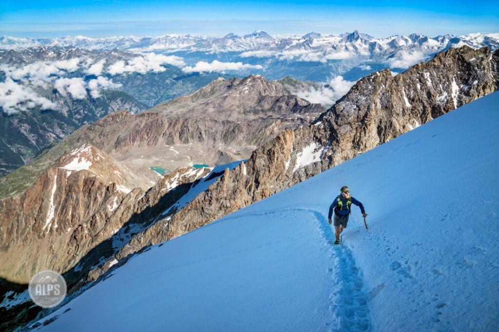 Climbing the Lagginhorn
