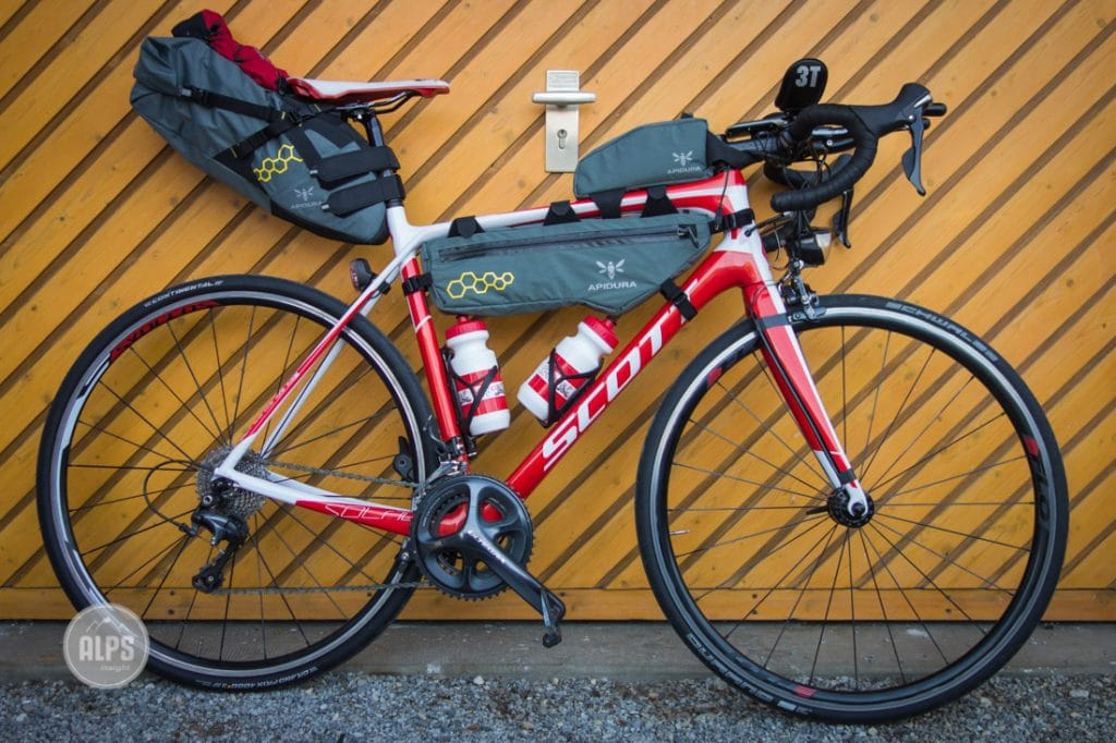 Ultralight bike touring gear set up