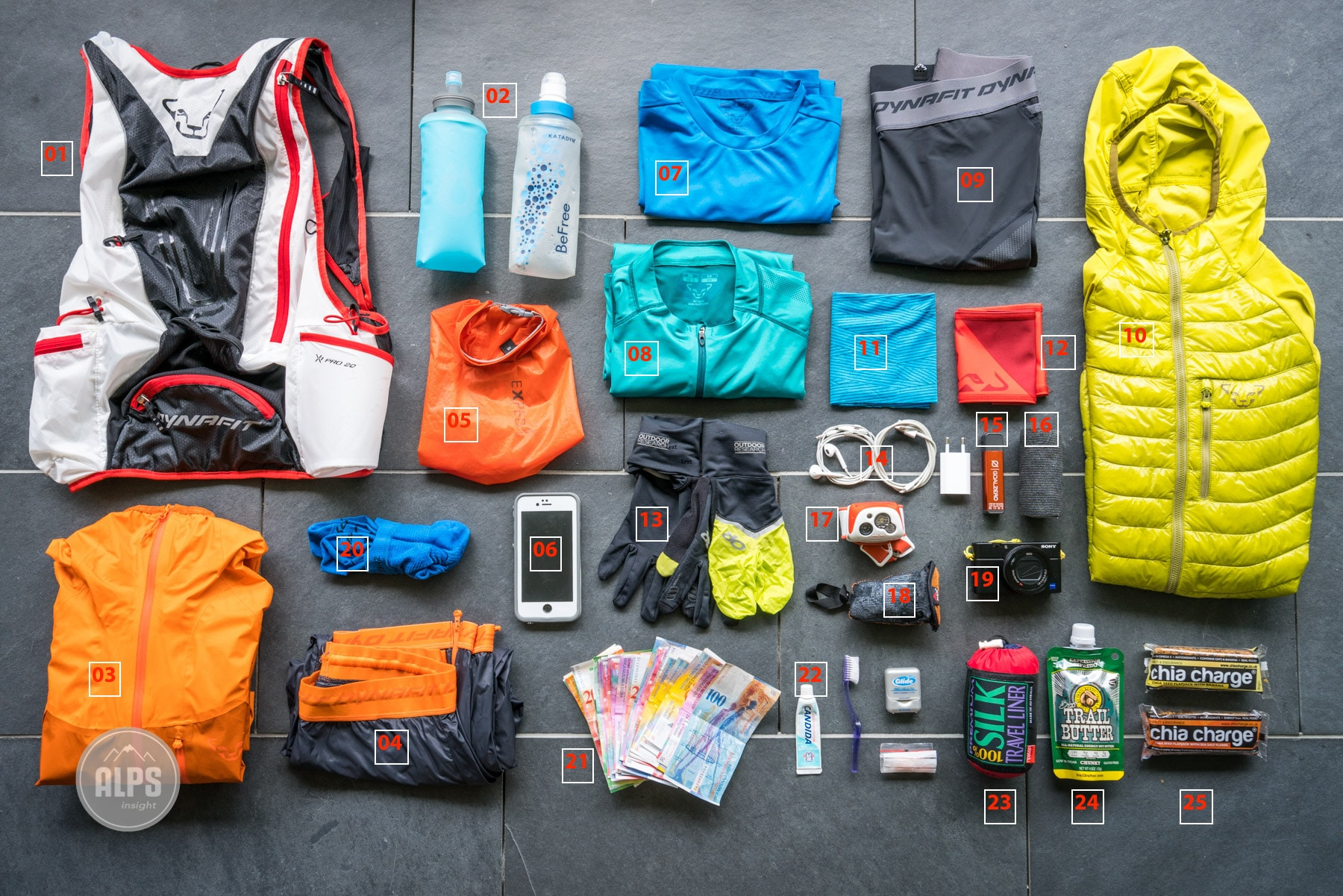 Ultralight trail running gear for multi-day running tours