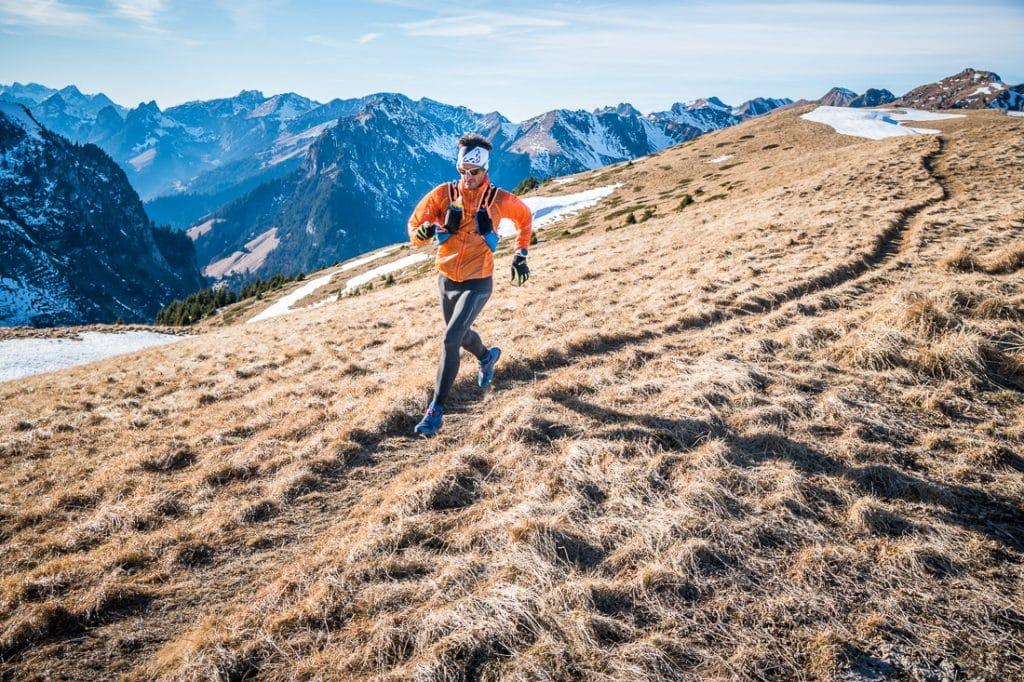 Trail running in Gantrisch, in the Swiss Alps