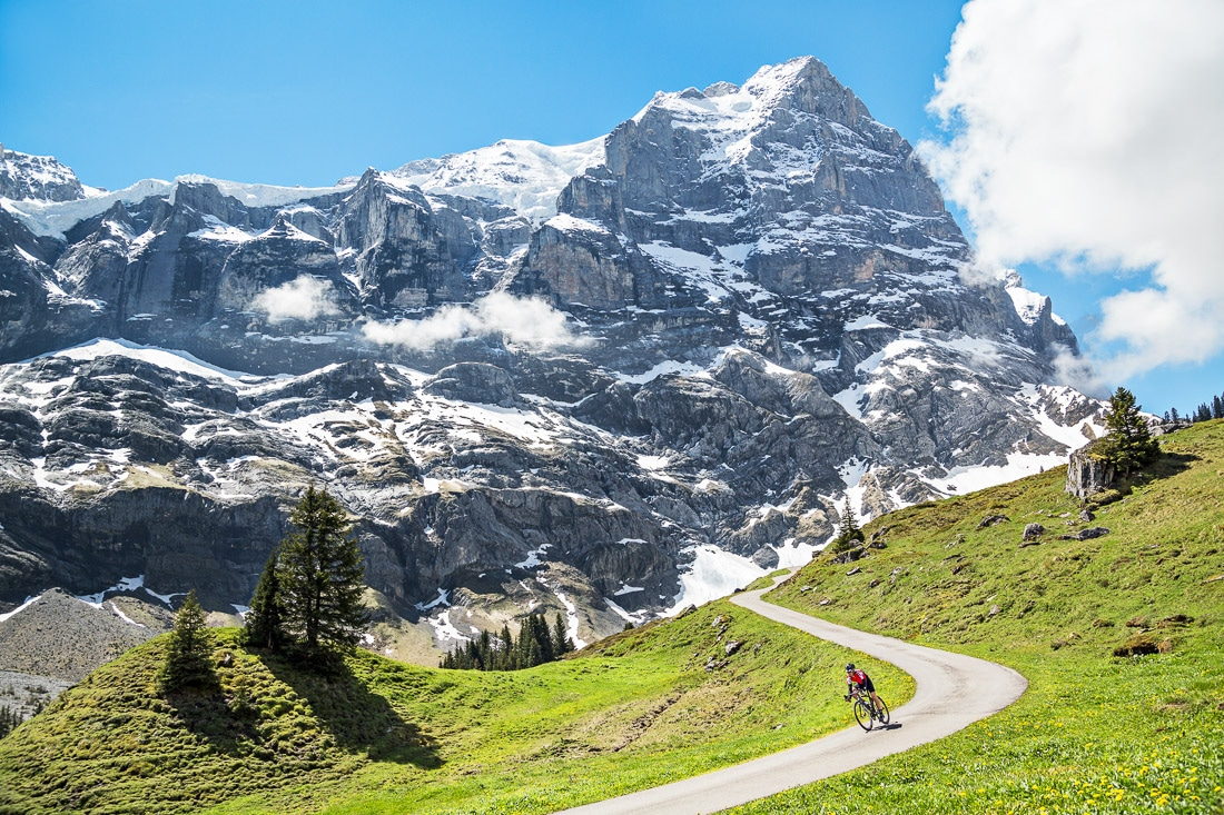Swiss cycling the Grosse Scheidegg