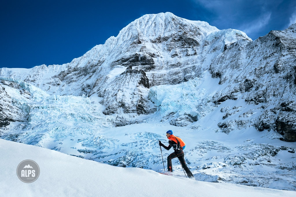 Ski mountaineering in the Swiss Alps