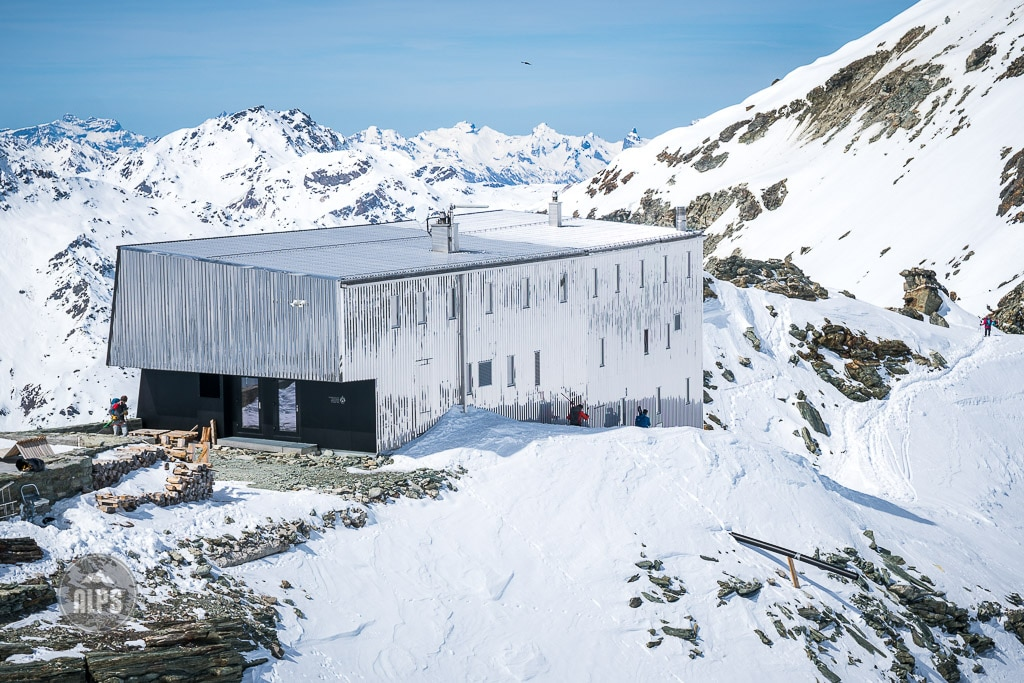 skiing the Bishorn, the Tracuit Hut