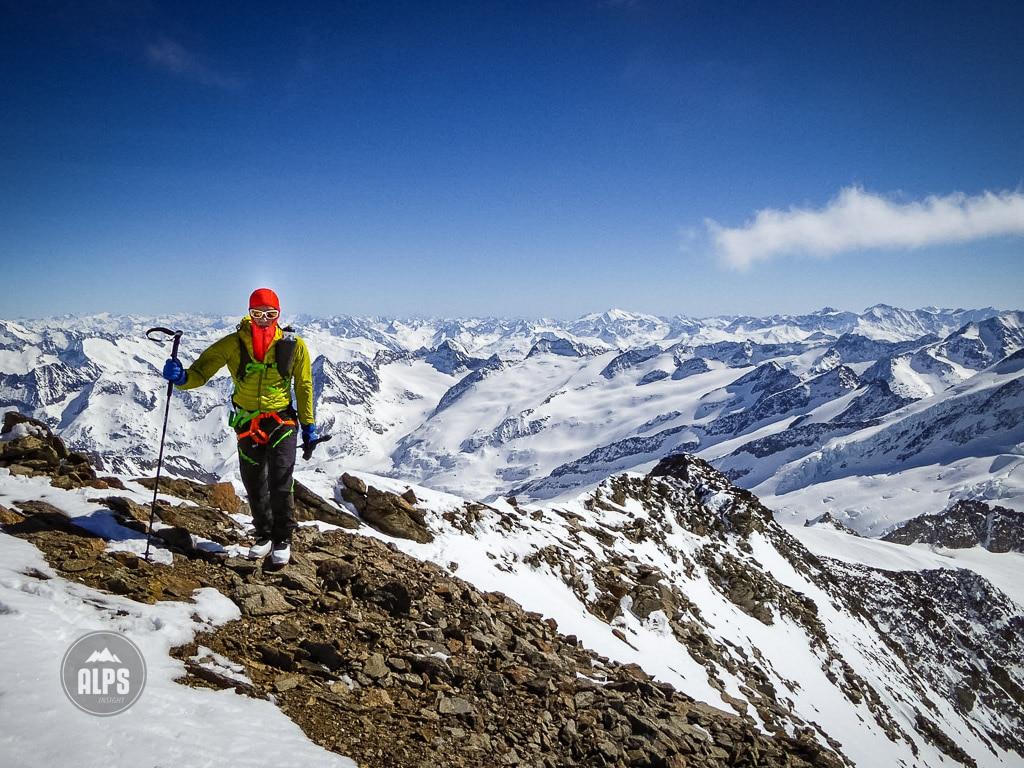 Dan Patitucci on the summit of the Rosenhorn