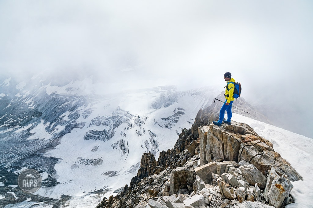 climbing the Oberaarhorn