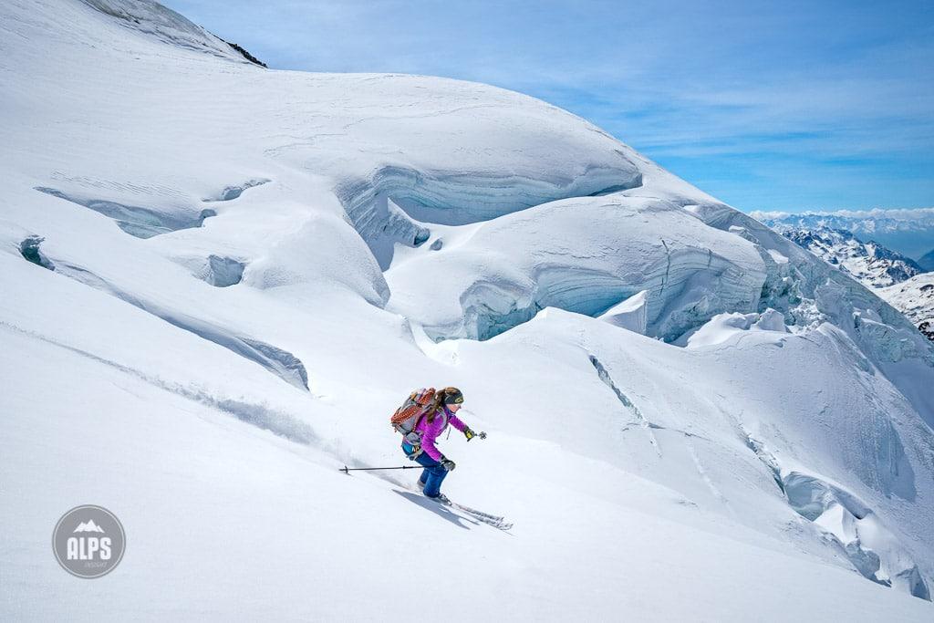 skiing Monte Cevedale, Ortler ski tour