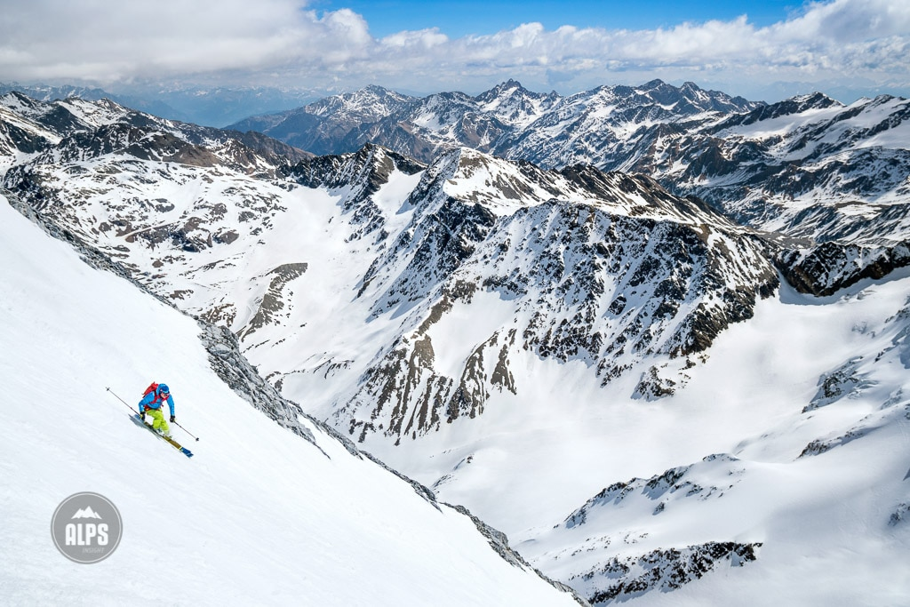 The Ortler ski tour skiing Gran Zebru