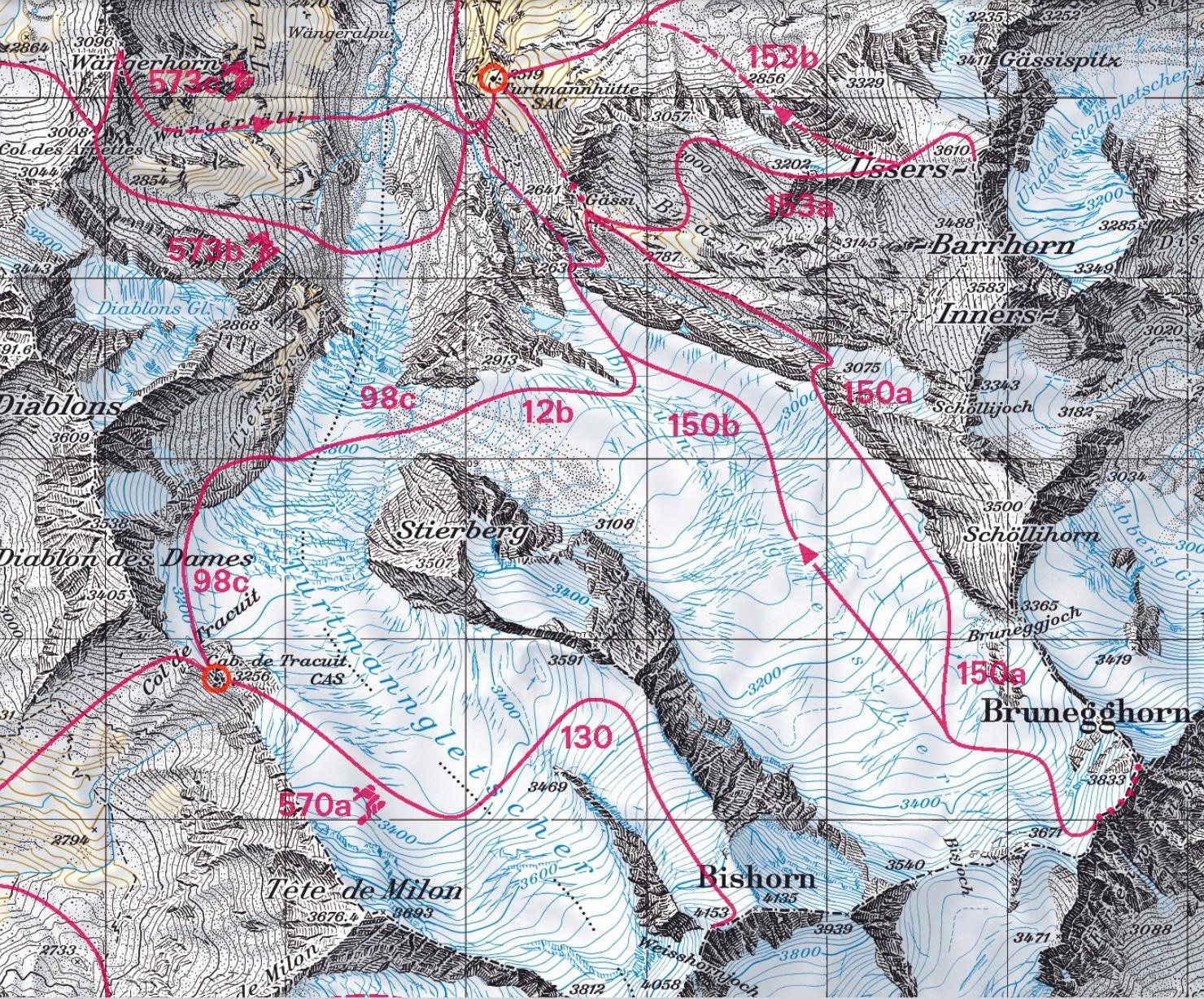 ski touring the Bishorn