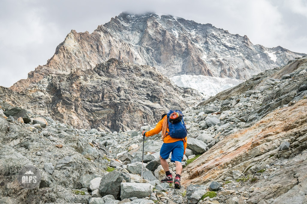 Hiking in to Dent Blanche