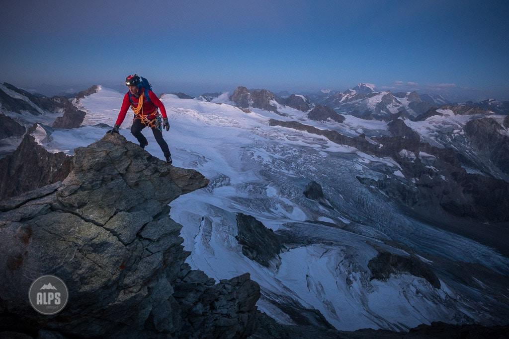 Climbing Dent Blanche