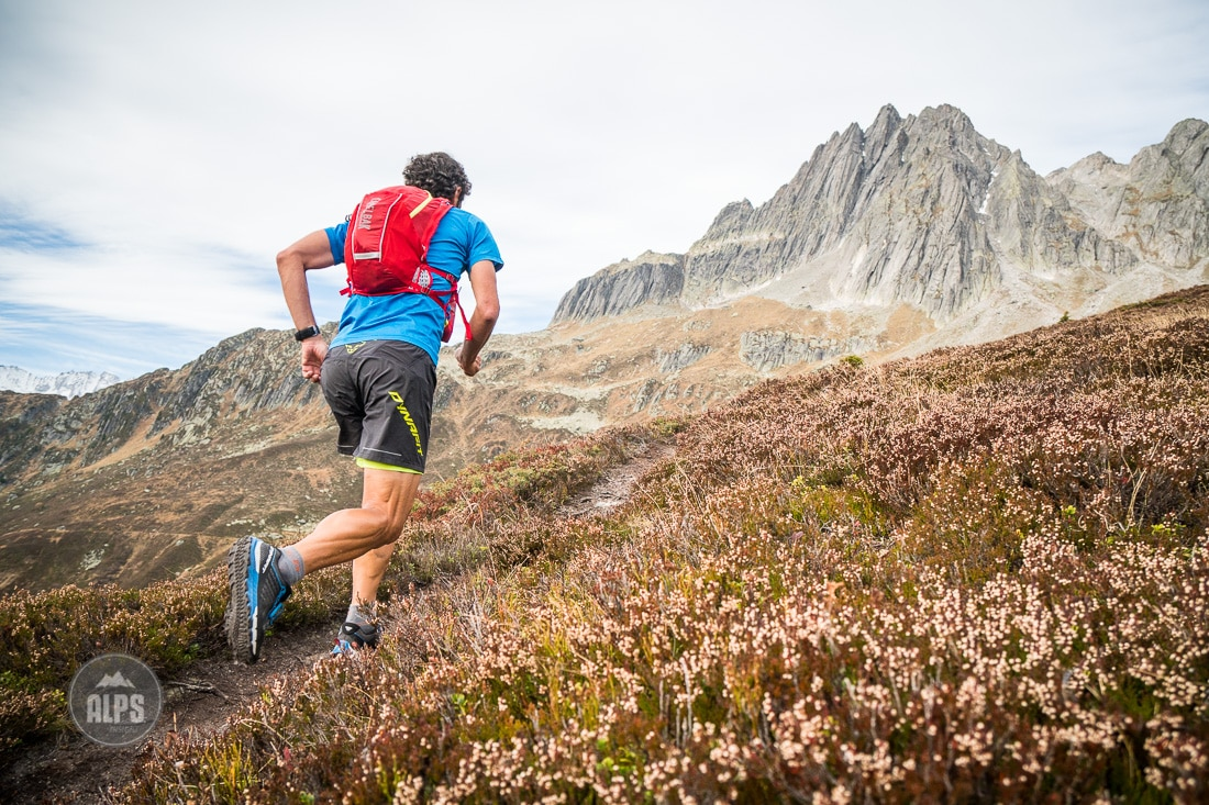 Trail running in the Salbit, Swiss Alps