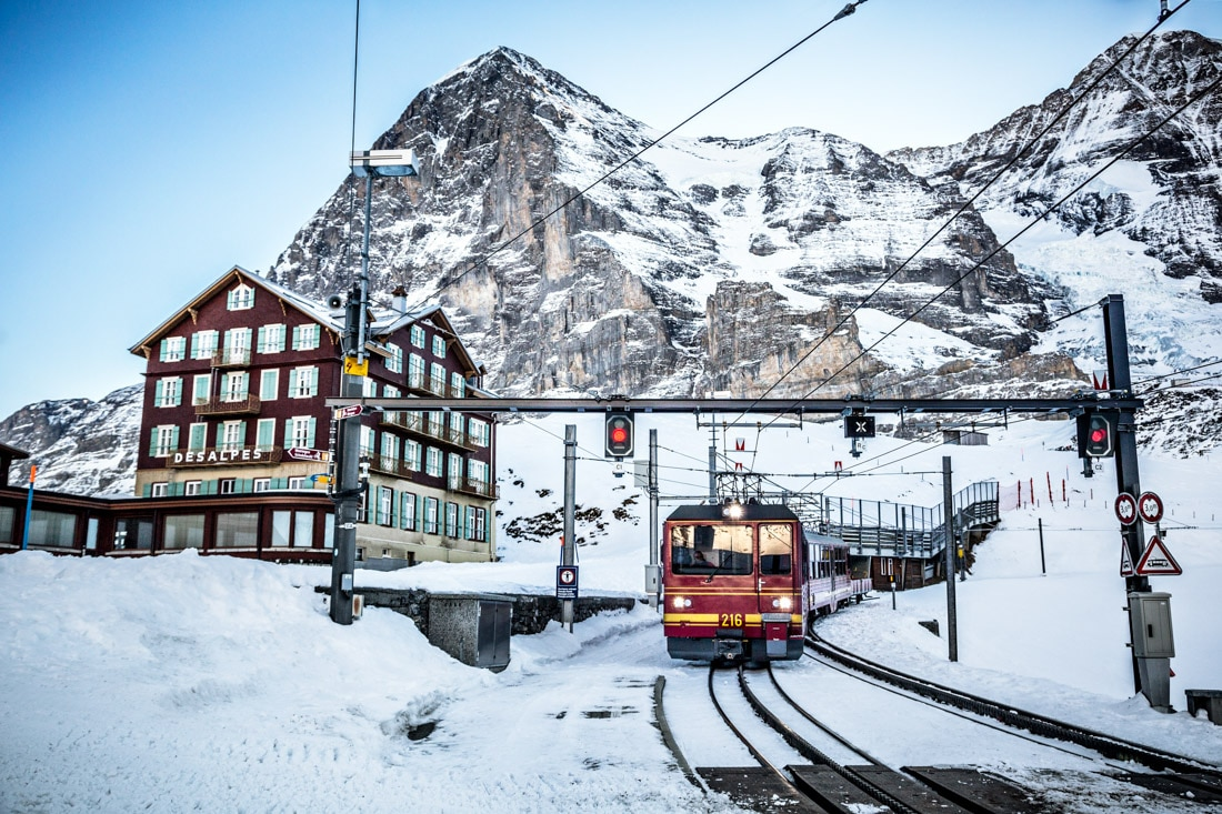 Kleine Scheidegg and the Jungfraujoch train