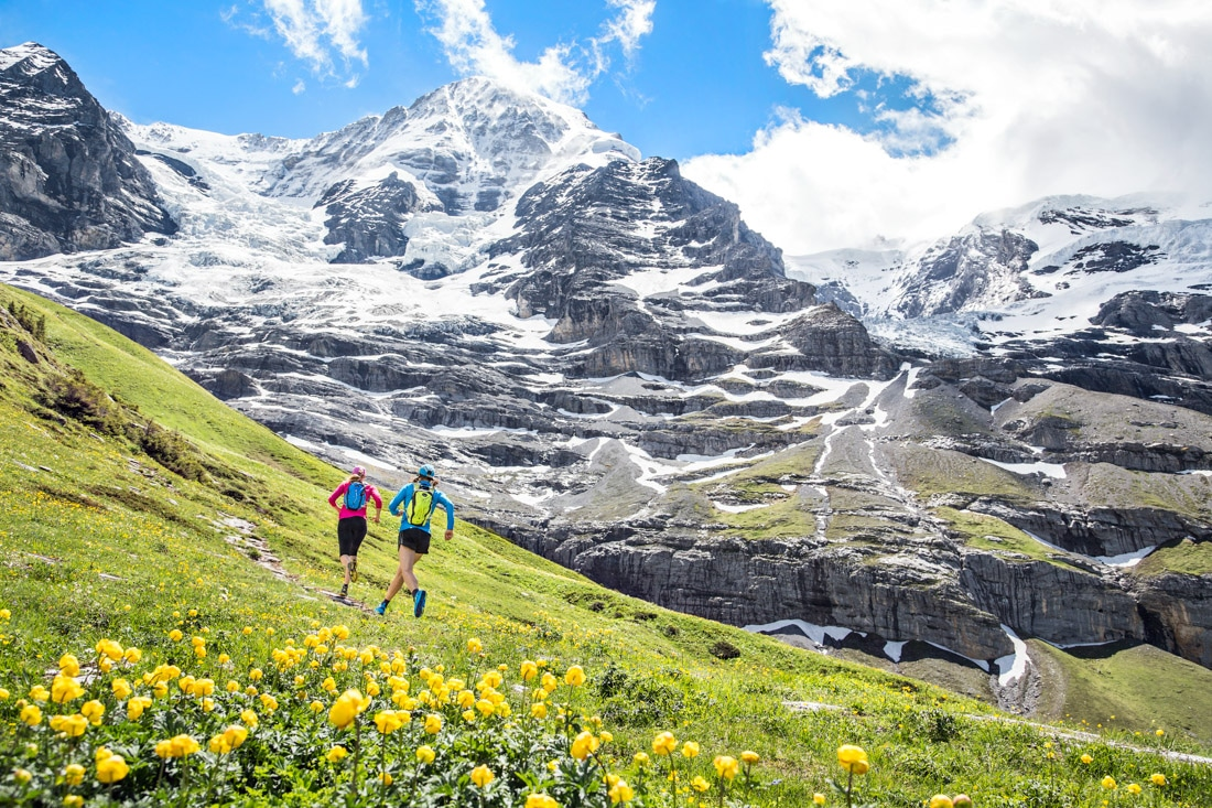 Hiking or trail running Lauterbrunnen to Grindelwald