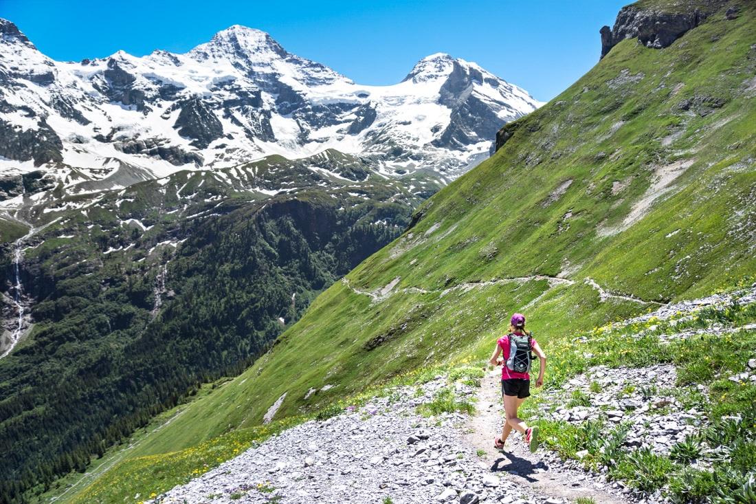 Swiss Alps cycling
