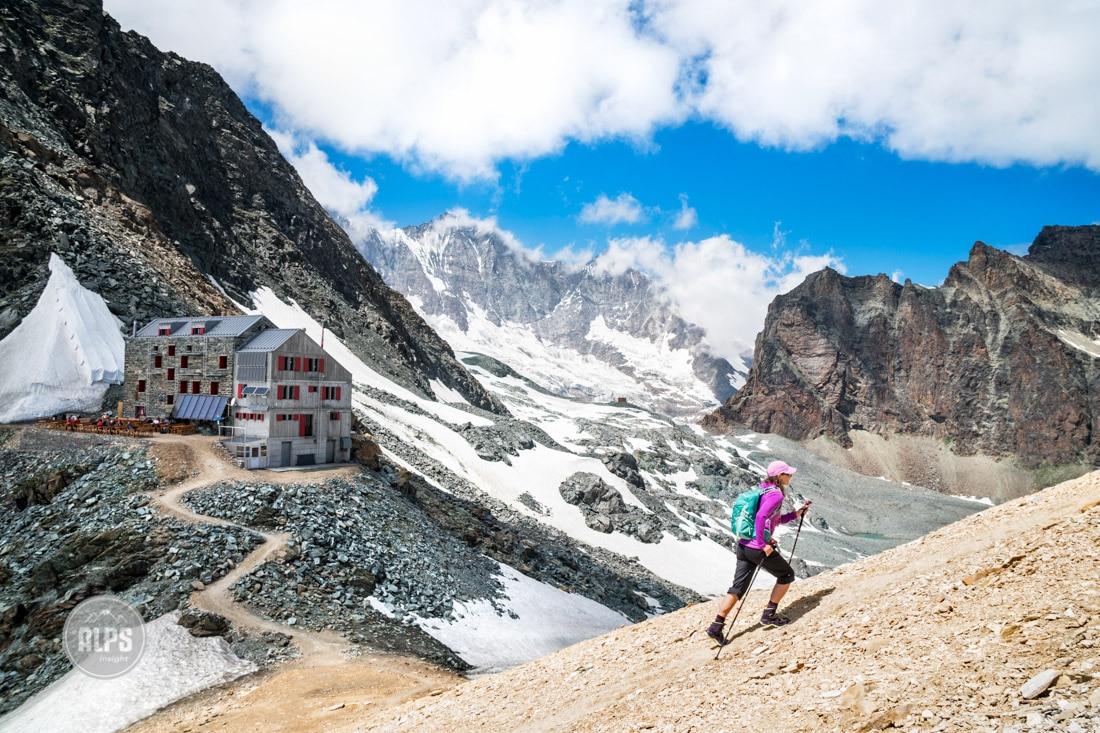 Hiking the Saas Fee Glacier Trail via the Britannia Hut
