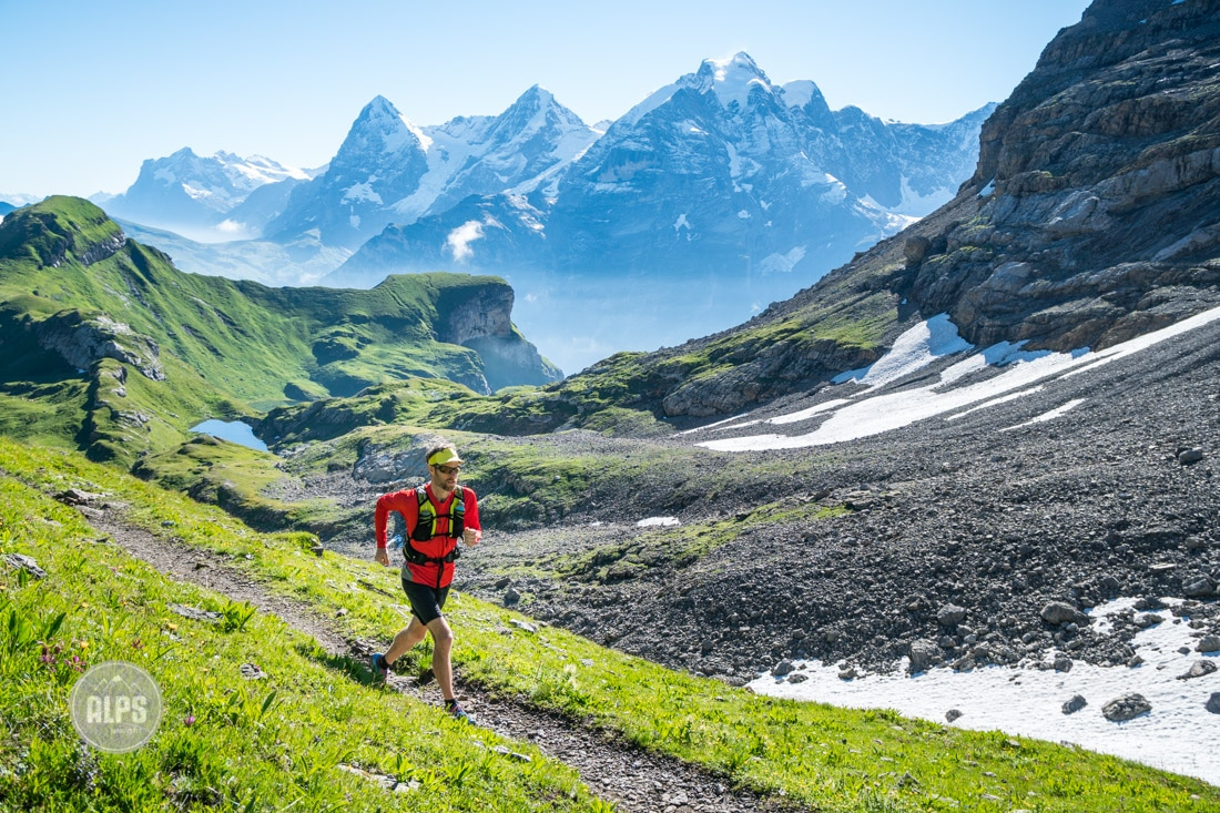 Running or hiking Lauterbrunnen to Kandersteg Switzerland