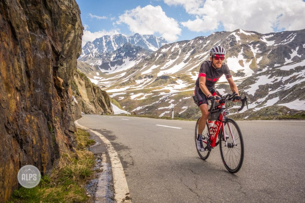 Alain Rumpf on the Tour du Mont Blanc bike tour