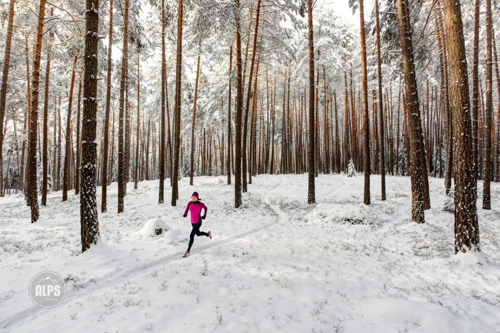 winter trail running