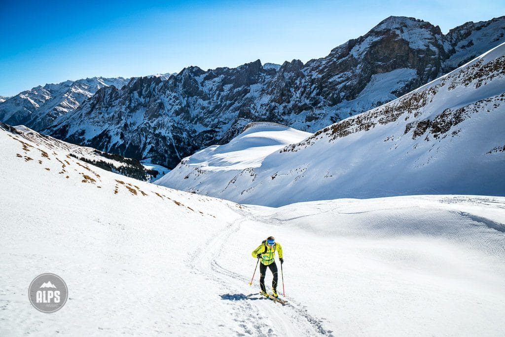 Ueli Steck training with ski mountaineering in the Swiss Alps