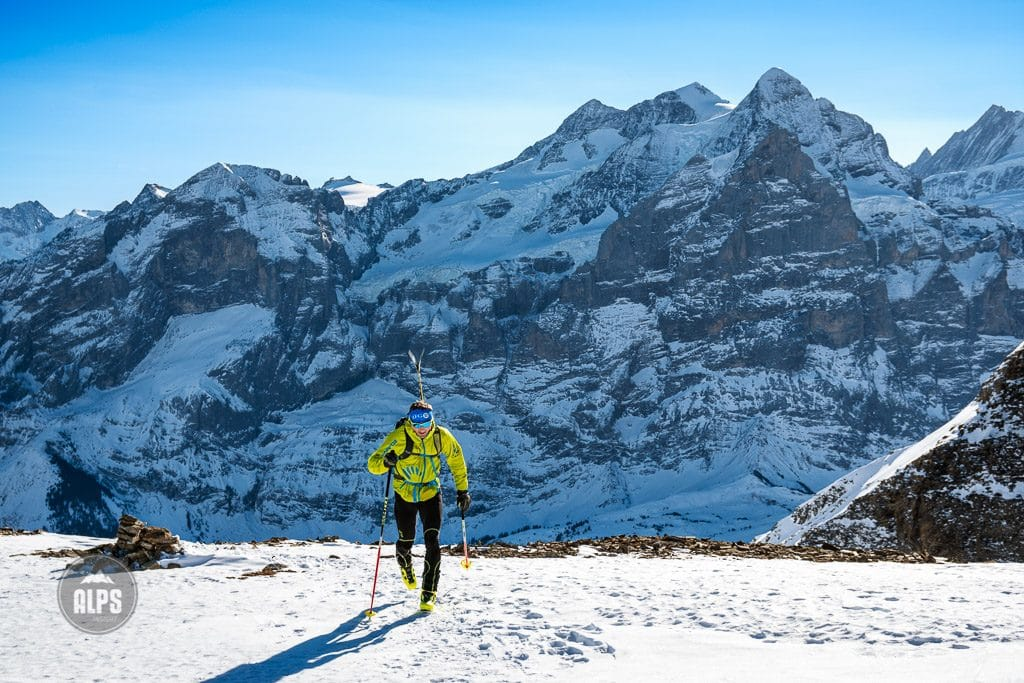 Ueli Steck training by ski mountaineering in the Swiss Alps