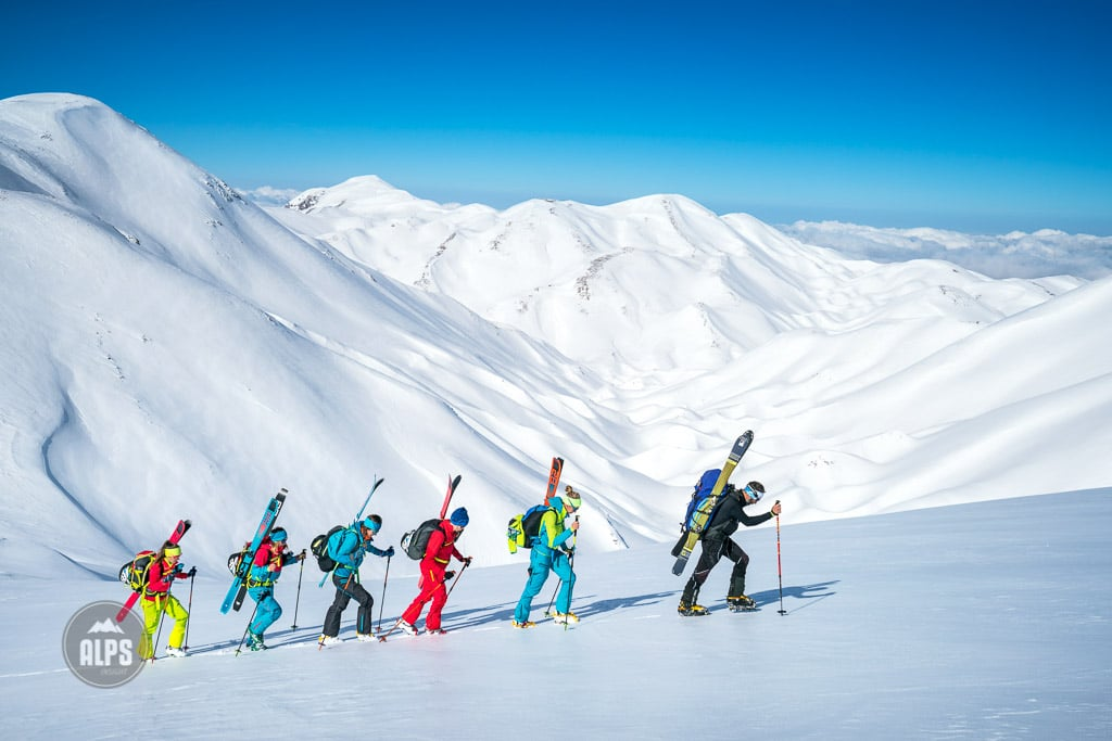 In the winter of 2017, five women traveled to the Greek Island of Crete to do a ski tour in the White Mountains. Ski touring.