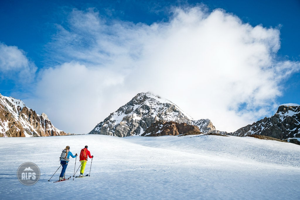 skiing the Gran Zebru, Ortler ski tour