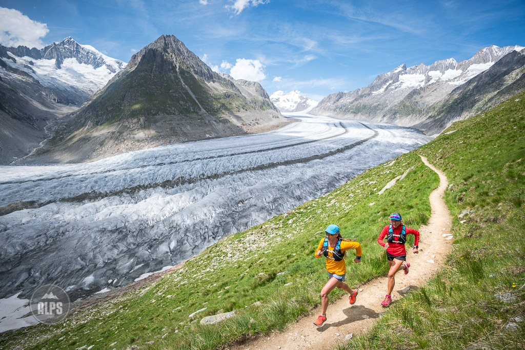 Trail running in Switzerland Aletschgletscher