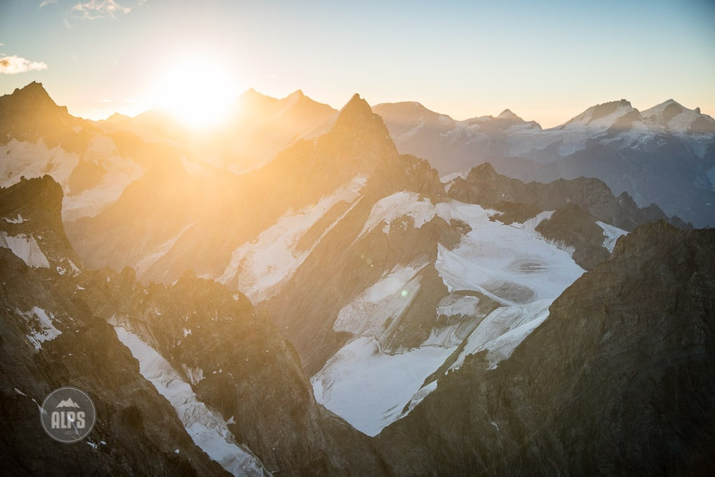 Sunrise light from the Dent Blanche, Switzerland