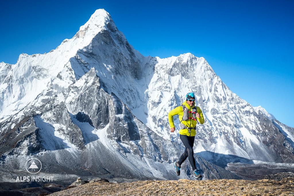 Trail running Nepal Himalaya
