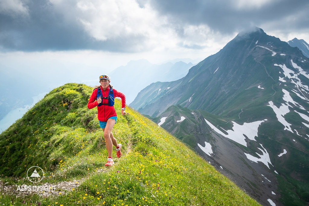 Trail running Brienzergrat, Swiss Alps