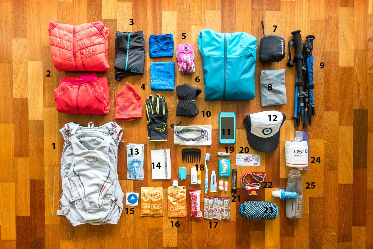 trail running gear for multi-day swiss alps tours